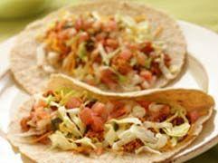 Spicy ground turkey tacos
