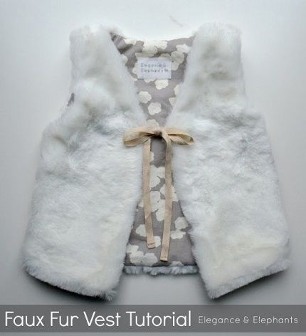 Tutorial: Child's faux fur vest