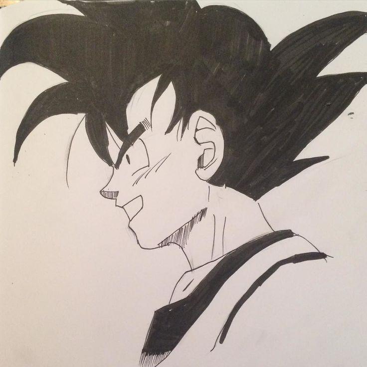 A drawing of Goku #dbz #dragonball #dragonballz #goku #songoku #akiratoriyama #saiyan #supersaiyan #penandink #pigmamicron #brushpen #instaart #instadraw #inkdrawing #illustratenow #art_4share #assemble_art #talnts #talentedpeopleinc #manga #anime by mechd_h