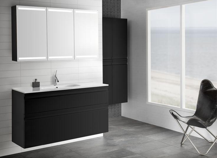 Contemporary slim porcelain basin in stringent design!