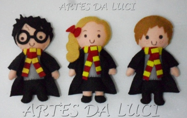 feltro: Ems Feltro, Harry Potter Dolls, Fieltro Felt, Felt Dolls, Felt Crafts, Arts, Harry Potter Hermione, Da Lucy, Harry Potter Felt
