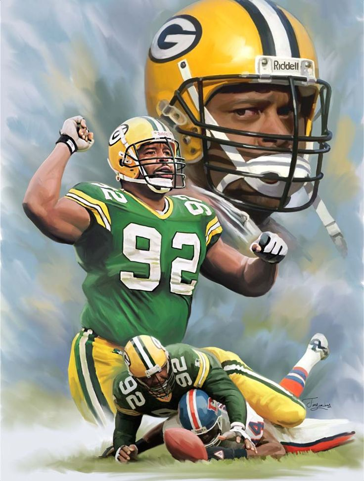 Reggie White, A legendary football player and a prime example of a great man.