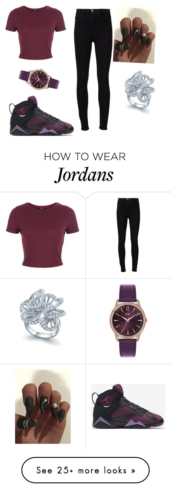 """yezz"" by dallasnariah on Polyvore featuring NIKE, New Look, Frame Denim, Henry London and Bling Jewelry"