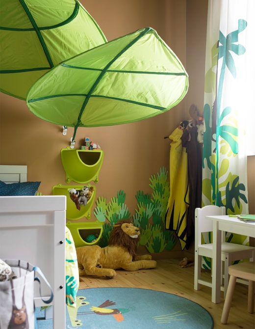 Una cameretta ispirata alla giungla Camerette, Mobili