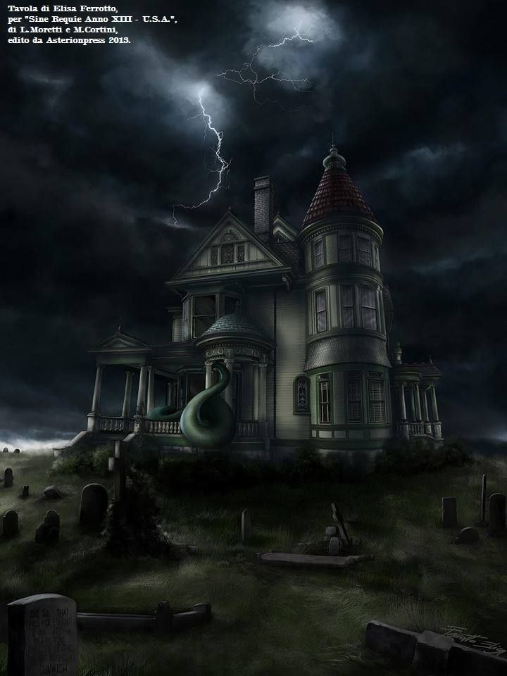 Sine requie : Casa Lovecraft - Asterion Press -    Digital painting - By Elisa Ferrotto