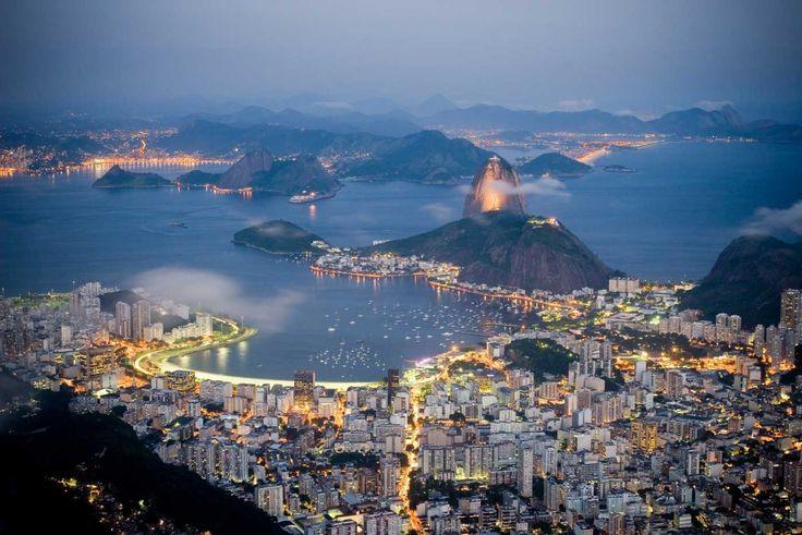 Panoramic of Rio De Janiero, Brazil