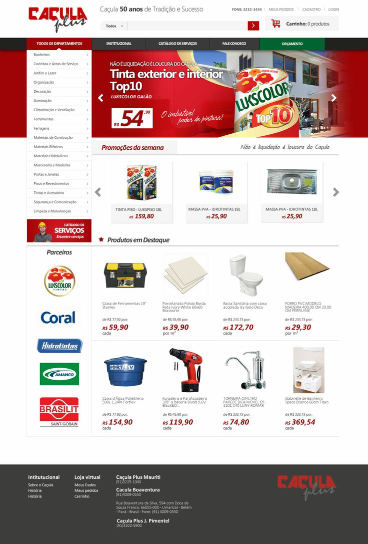 Layout photoshop web design website template tutorials tutorial 022 - Ca Ula Loja De Materiais De Constru O Cria O Do Layout Da Loa Virtual Layoutwebsite