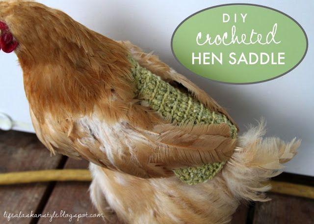 Life Alaskan Style: crochet pattern for chicken saddle/apron/sweater