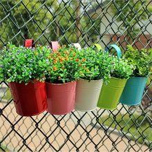 Nuevo Color Sólido BRICOLAJE Jardín Plantadores Colgantes de Pared Cestas Cesta Colgante Maceta De Plástico Maceta Macetas de Hierro(China (Mainland))