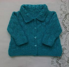 CHAQUETA AZUL 3-4 MESES EN PUNTO COMBINADO   LA QUIERO       Materia l  Lana bebé color azul  Agujas de punto nº 3'5  Aguja de crochet del ...