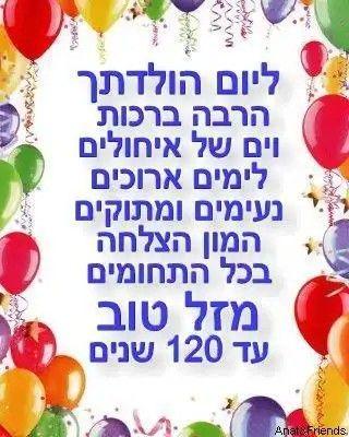 Открытки с днем рождения женщине на иврите