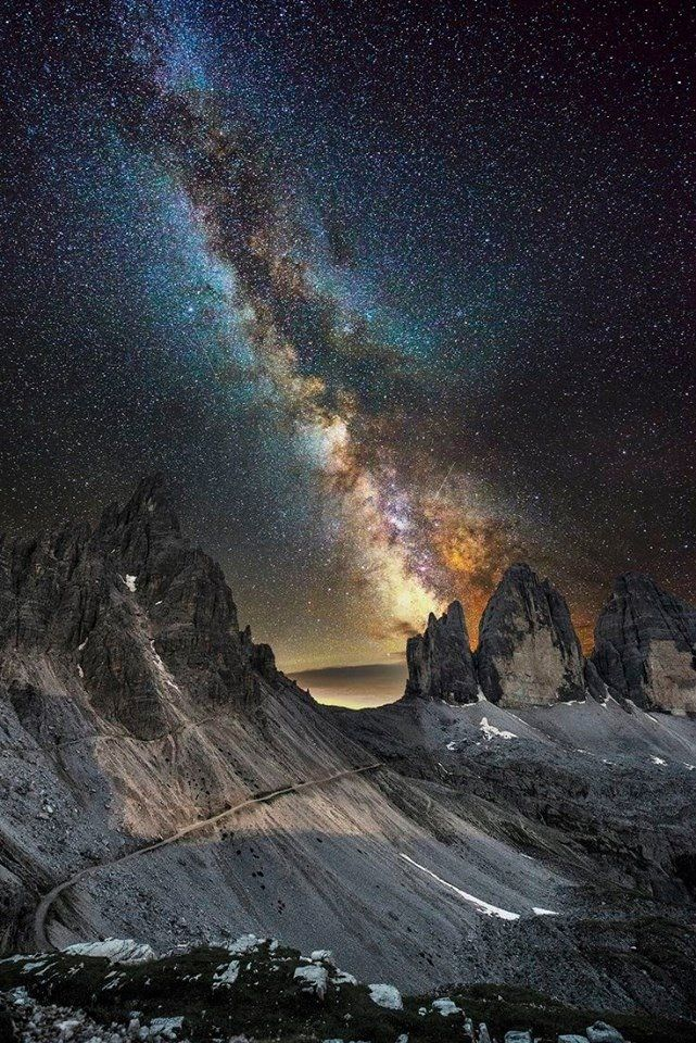 "pxx812: ""Milky Way over Lavaredo. """