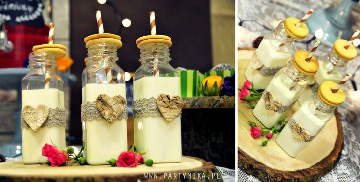 Słodki stół weselny w stylu rustykalnym - Cookie Bar - partymika