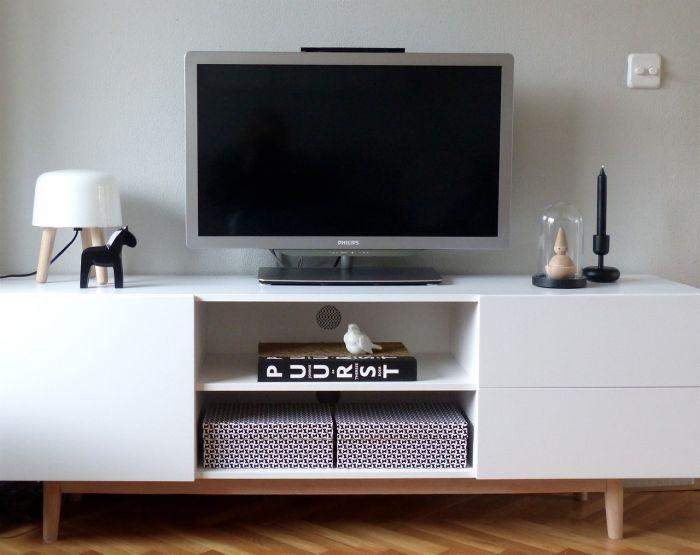 Tv Kast Zwart Wit.24designs Tv Meubel Aalborg 160x40x55 Mat Wit Eiken Poten In