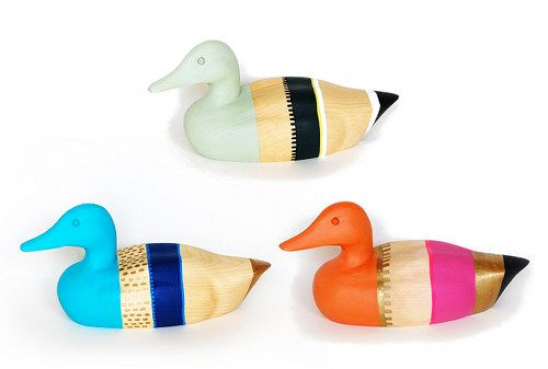 Stylish decoy ducks
