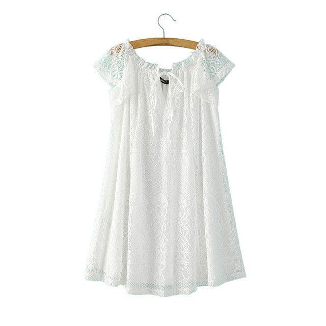 Women sexy slash neck sweet lace dress black white mini short sleeve Vestidos femininos fashion streetwear casual dress