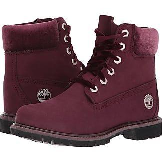 ed33a564 Timberland 6 Premium Leather and Fabric Waterproof Boot (Burgundy  Nubuck/Velvet Collar) Womens Waterproof Boots
