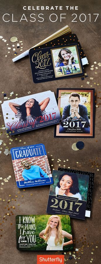 Use code GRAD17 for 40% off grad stationery. Ends May 10. | Shutterfly.com