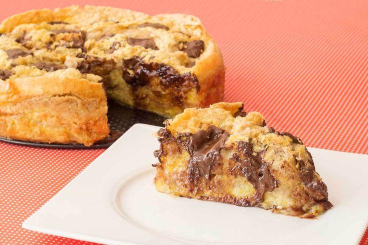 Torta de Banana com Chocolate Suflair
