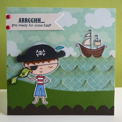 Arrrgghh, shiver me timbers...  Pirate card made with stamps from My Cute StampsChildren Cards, Cards Ideas, Beautiful Cards, Cards Features, Handmade Cards, Pirates Cards, Birthday Cards Kids