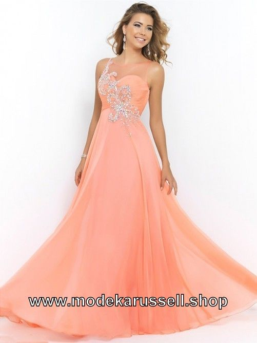 a linie abendkleid gitte in orange lang  blush prom dress