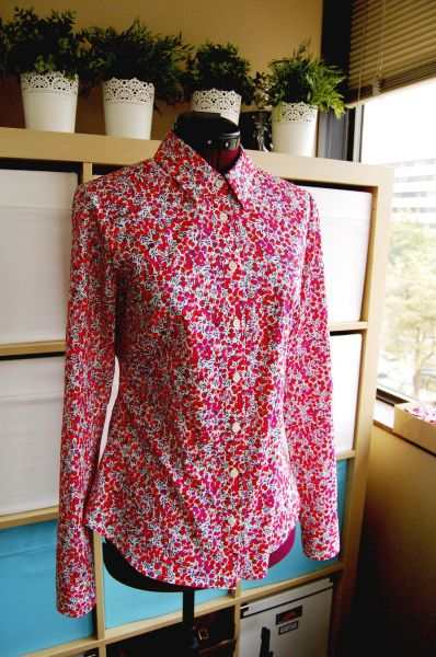 granville shirt in wiltshire liberty print on dressform 1