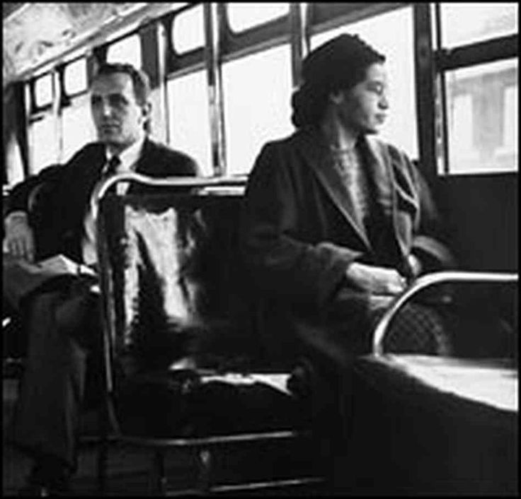 Rosa Parks was a Civil Rights activist most well-known for her refusal to move to the back of a city bus, back when buses were still divided into 'Black' and 'White' sections. Like Dr. King, she also heavily supported nonviolent protests and played a key role in the Civil Rights Movement after King's death.
