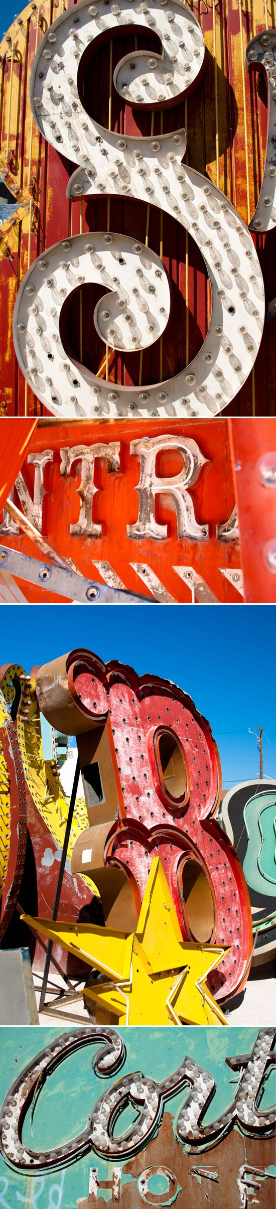 from Bri Emery's Design Love Fest post about the Neon Boneyard. What a magical place it must be
