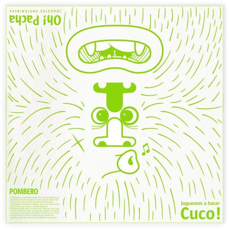 Manta para Hacer CUCO! con personajes de nuestra mitologia. 100% algodon.