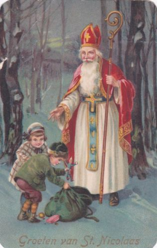 oude Sinterklaas kaart