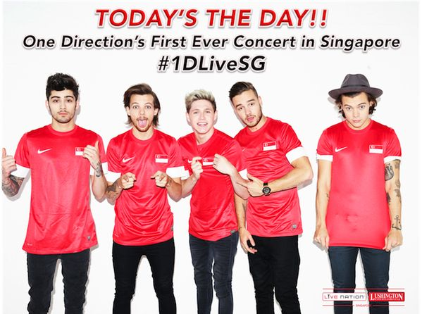 The boys have their first show in Singapore today!