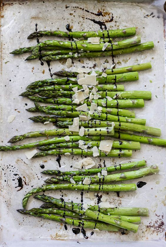Garlic, Parmesan and Balsamic Roasted Asparagus | Food