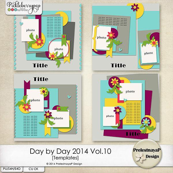 Day by Day 2014 Vol.10 Templates by PrelestnayaP Design