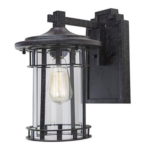 Outdoor wall lights 402 pinterest lnc industrial edison vintage style rust 1 light outdoor wall lantern mozeypictures Image collections