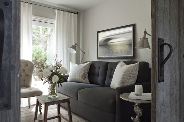 Dise o interior casa peque a sal n sof gris living room - Salon diseno ...