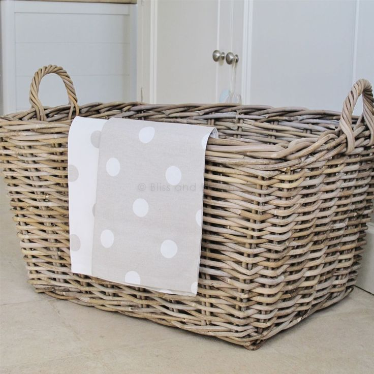 Buy Grasmere Grey Wash Wicker Storage Basket From The: 10 Best Laundry Bins And Storage Baskets Images On
