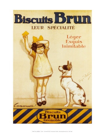 Biscuits Brun Print by George Redon