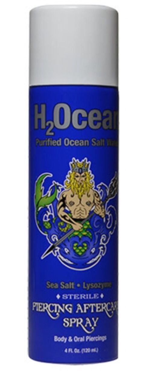 H2ocean Piercing Aftercare Spray For Body and Oral Piercing 4 Oz