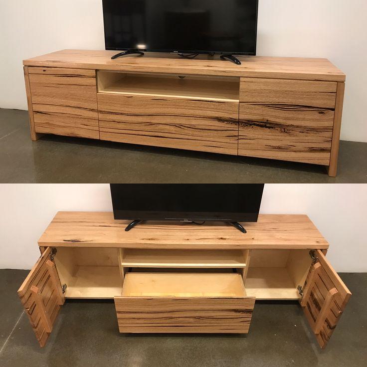 Messmate timber tv unit