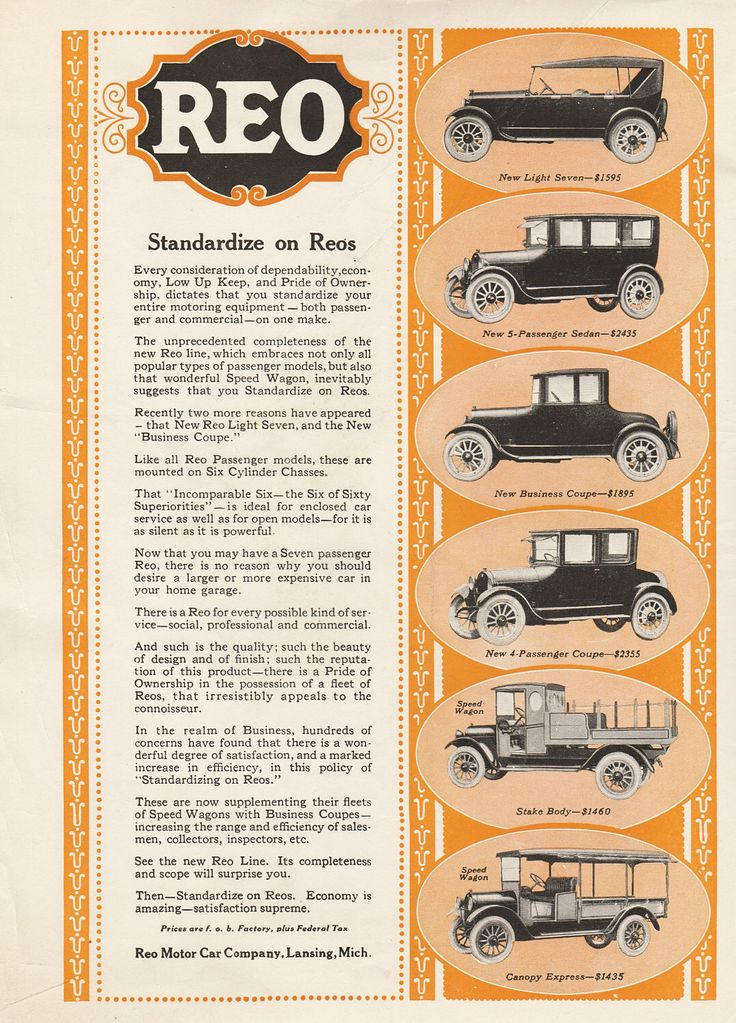 Vintage Automobile Ads, 1922 REO Speed Wagon, Two-tone Advertisement with prices by GospelHymnsVintage on Etsy https://www.etsy.com/listing/523271713/vintage-automobile-ads-1922-reo-speed