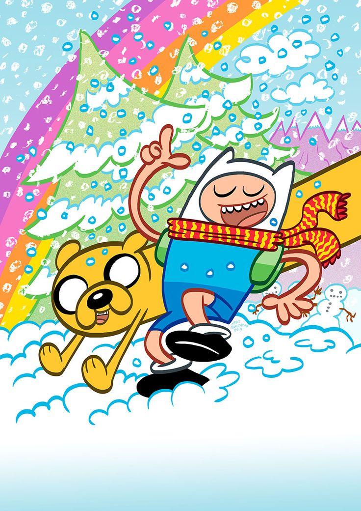 Hora de Aventuras. 'Adventure Time Winter Special'. Portada alternativa.