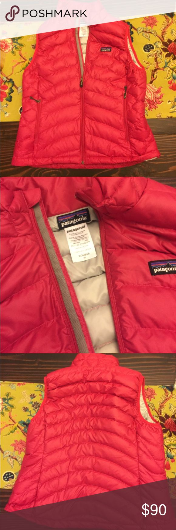 Patagonia Down Sweater Vest Practically new Patagonia down sweater vest in a lovely dark pink color. This vest is in excellent condition. Patagonia Jackets & Coats Vests