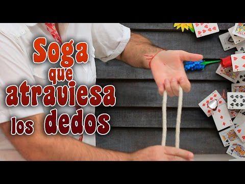 Soga que atraviesa los dedos - Truco de magia fácil - YouTube