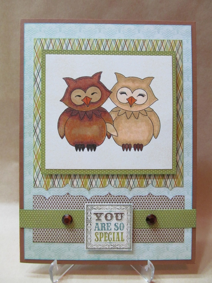Card Making Ideas Owls Part - 43: Handmade Card With Owls