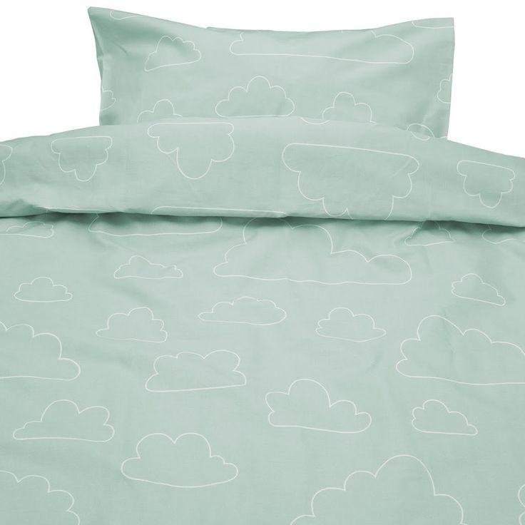 Moln Eco Cotton Cloud Green Children Bed Set 130cm x100cm