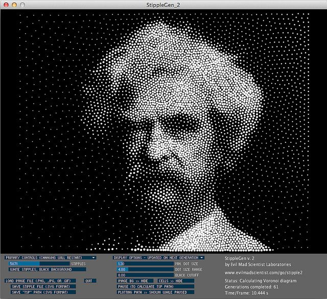 StippleGen 2 - free opensource graphics program