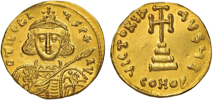 NumisBids: Nomisma Spa Auction 50, Lot 44 : BISANZIO Tiberio III (698-705) Solido - Busto di fronte – R/ Croce...