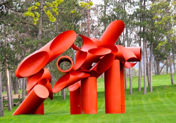 Illiad by Illiad by Alexander Lieberman; a sculpture at the Storm King Art Center