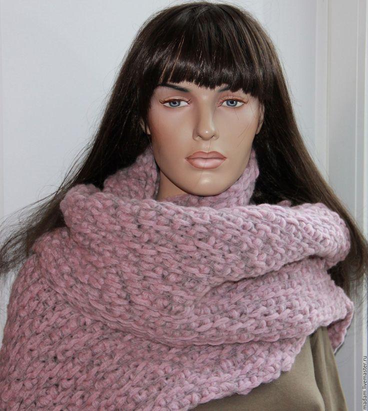 """Купить Шарф """"Ленни"""", большой шарф. - серый, шарф, шарф ленни кравиц, огромный шарф"""