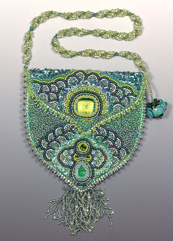 Bead embroidered purse by Grace Danel - shown at Beading For A Cure - Gallery 2010